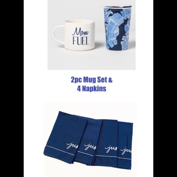 Threshold 2pc Mug Set & 4 Napkins